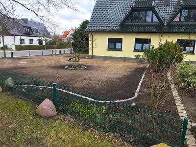 Anlegen eines neuen Gartens durch Experten